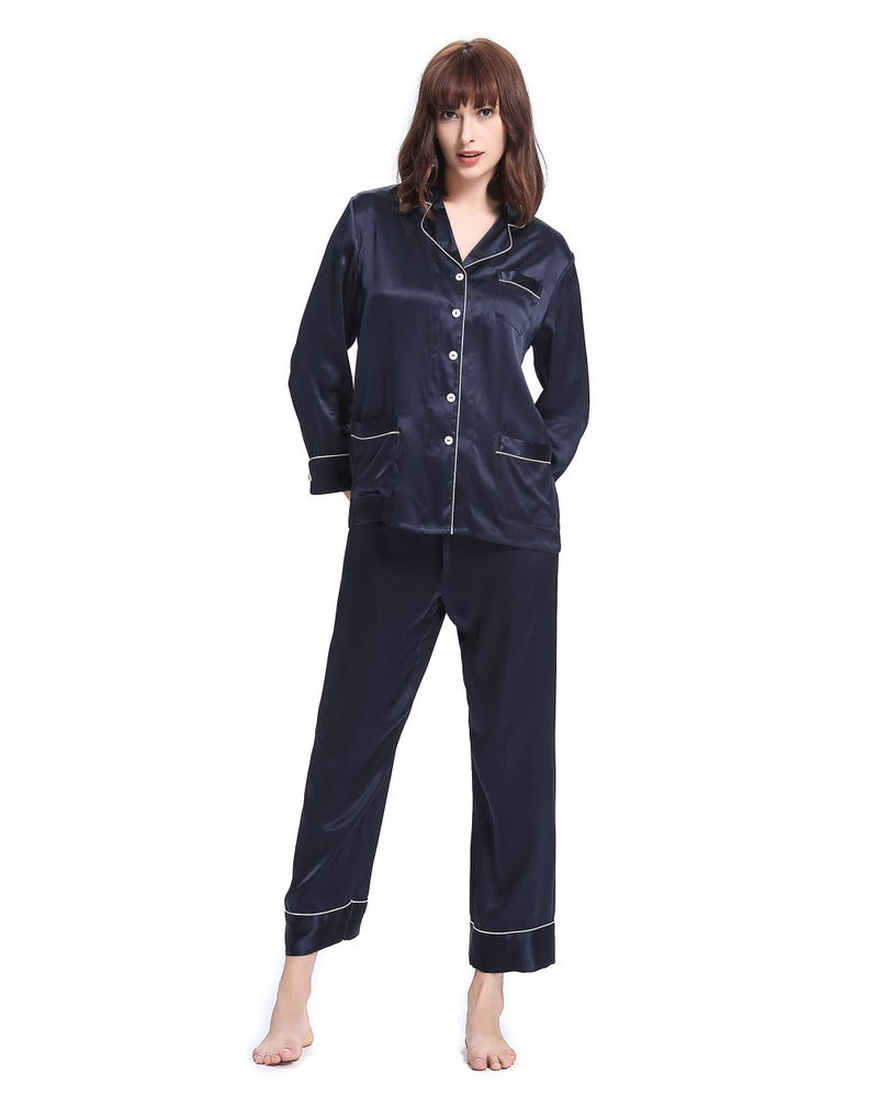 22 Momme Chic Trimmed Silk Pajamas Set