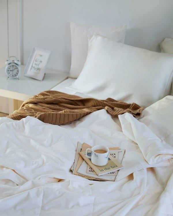 洗える 真綿布団 表地:コットン