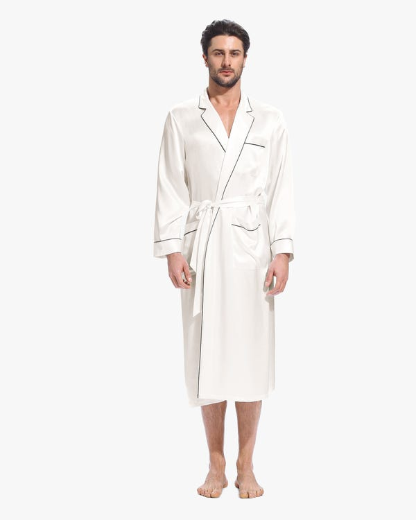 22 Momme Casual Long Silk Robe