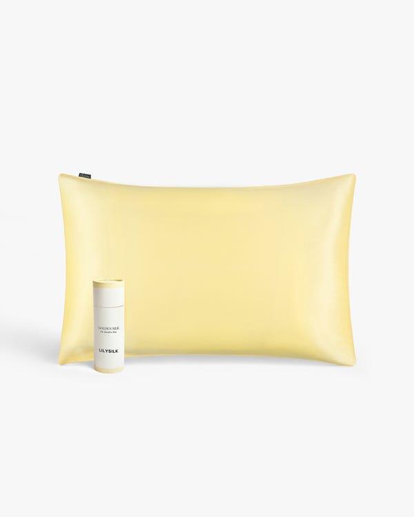 19匁シルク枕カバー【額縁付き】【封筒式】