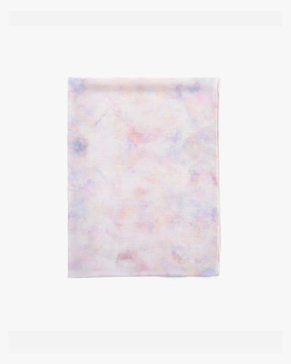 水彩柄 シルクスカーフ