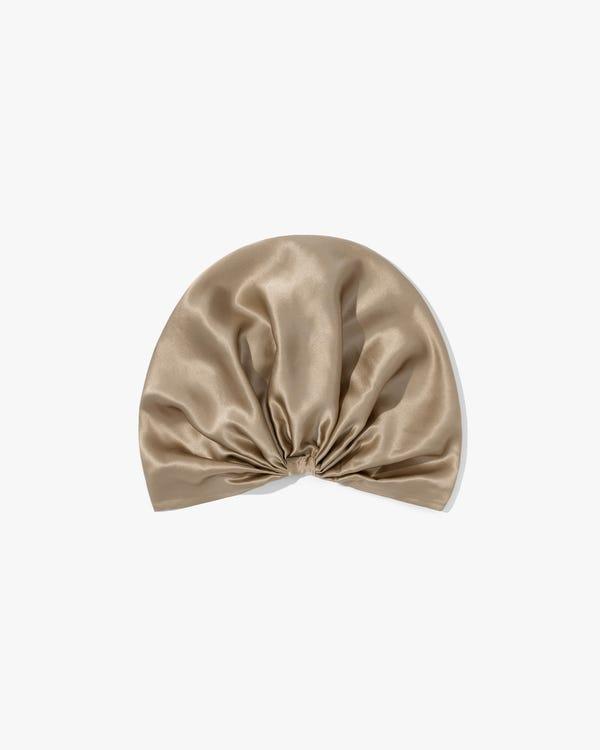 19匁天然シルク100%クラシック プリーツ シルクお休みキャップ ナイトキャップ 美髪帽子 快眠