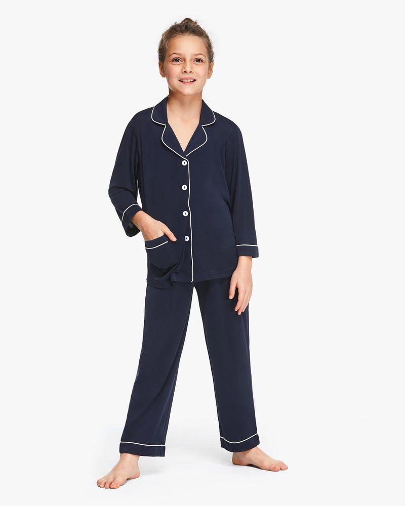 子供 長袖 シルクニット パジャマ 通気性良い