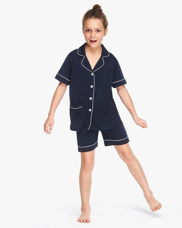 シック トリム シルクニットパジャマ 子供パジャマ
