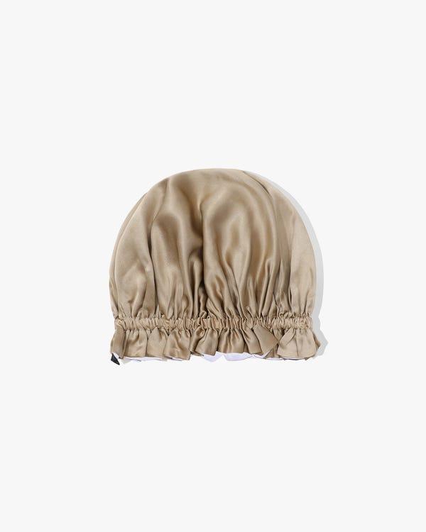 渡辺直美さんおススメ! 19匁天然シルク100%可愛いナイトキャップ お休みキャップ 就寝用帽子 双面タイプ リバーシブル