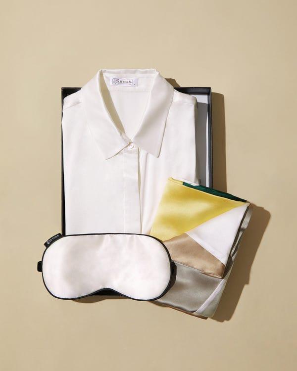 25匁シルク枕カバー【額縁無し】【封筒式】