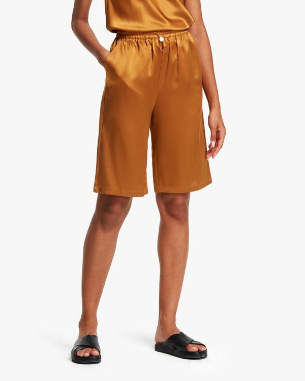夏用 カジュアル シルクショートパンツ「素材:22匁シルク100%」