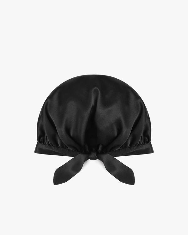 19匁天然シルク100%ナイトキャップ お休みキャップ 就寝用帽子 【後ろリボン付き】