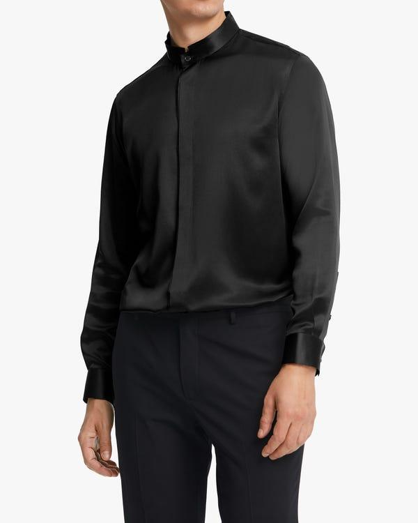 半袖 丸首 シルク メンズ Tシャツ「素材:22匁シルク100%」-hover