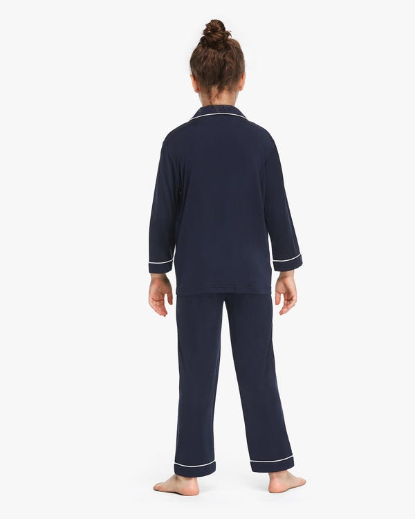 子供 長袖 シルクニット パジャマ 通気性良い-hover