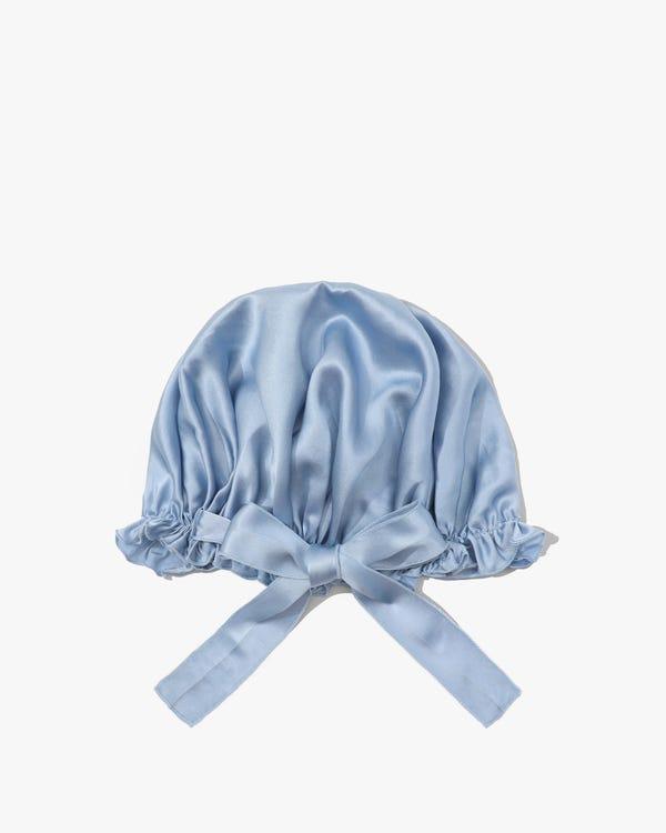 19匁天然シルク100%ナイトキャップ お休みキャップ 就寝用帽子 リボン付きタイプ