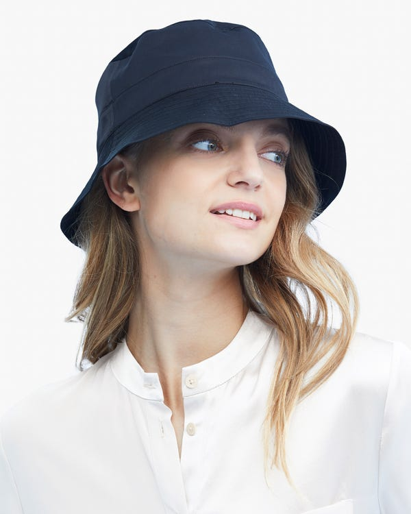 Womens Pure Silk Bucket Hat-hover