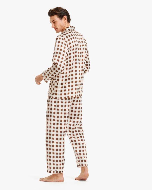 メンズ 定番シルクパジャマ-hover