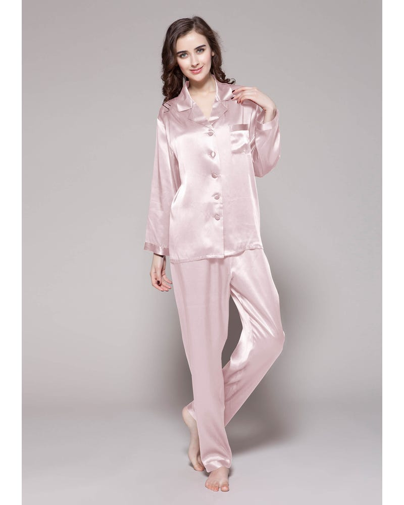 22 Momme Full Length Silk Pajamas Set