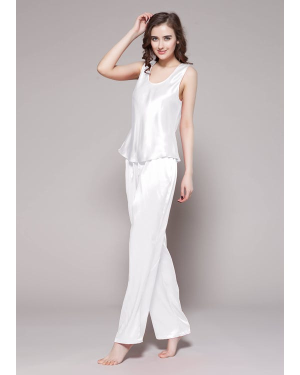 22 Momme Long Silk Camisole Set-hover