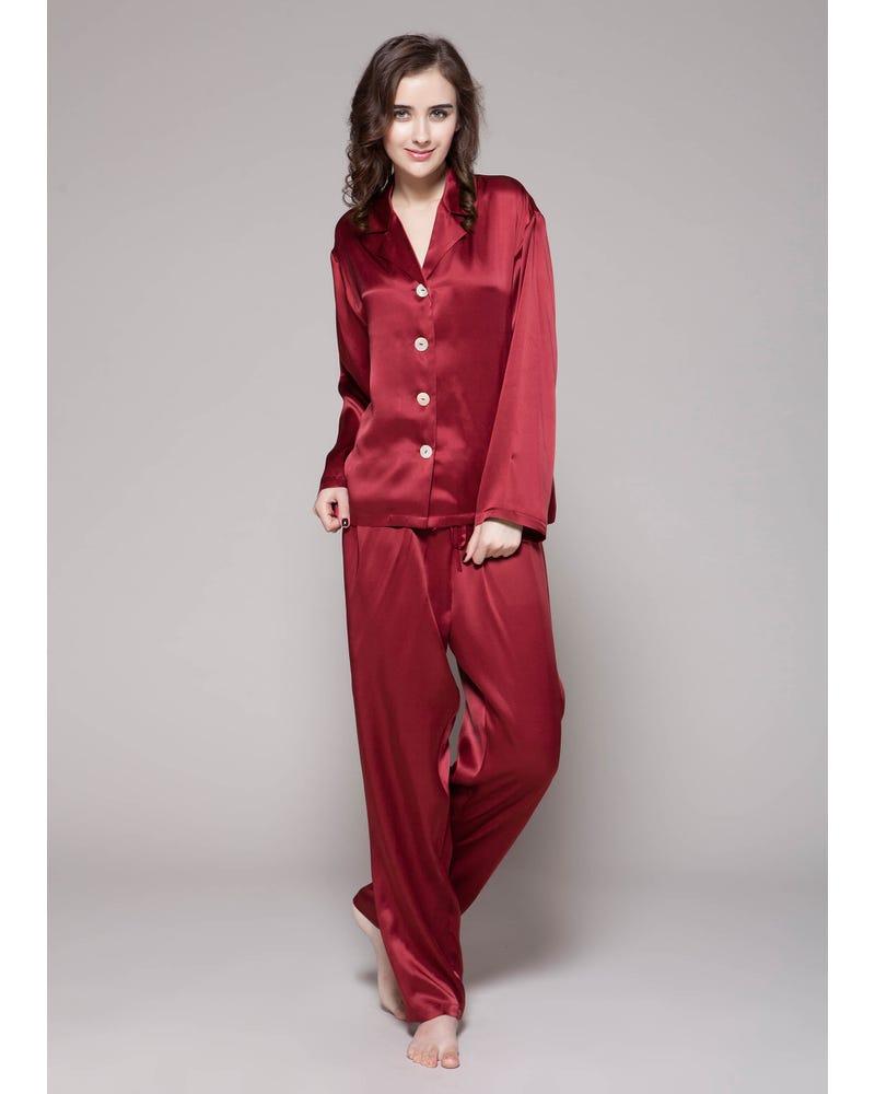 22 Momme Long Classic Silk Pajama Set