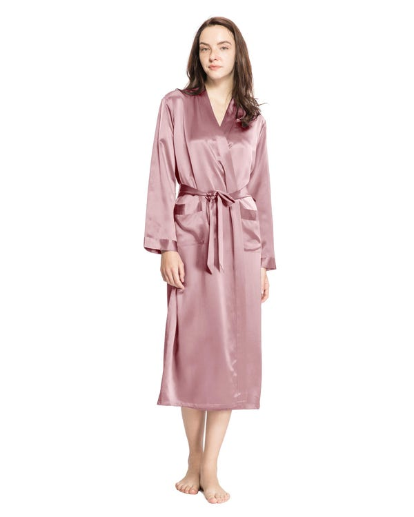 22 Momme Classic Full Length Silk Robe