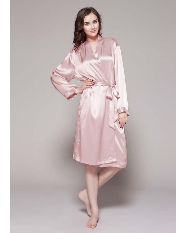 22 Momme Classic Mid Silk Robe
