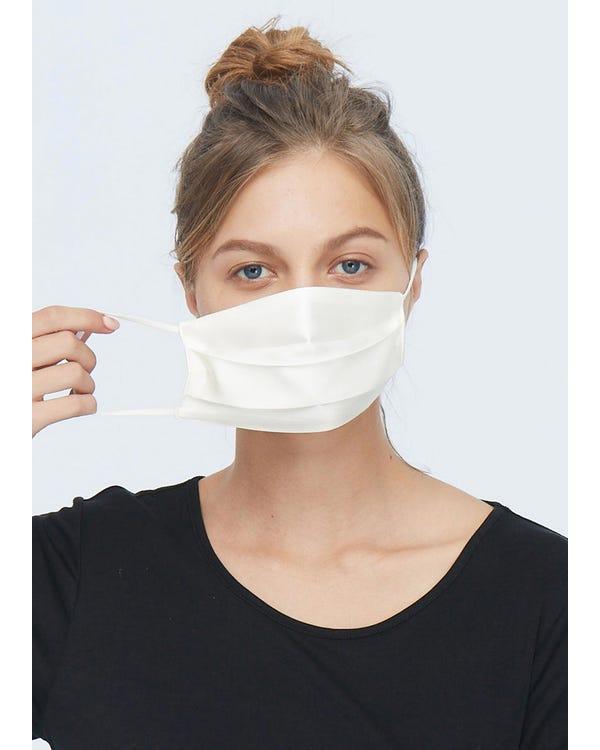 シルクマスク 肌触り良い 花粉症対策 普段欠けないアイテム Ivory 10-Packs