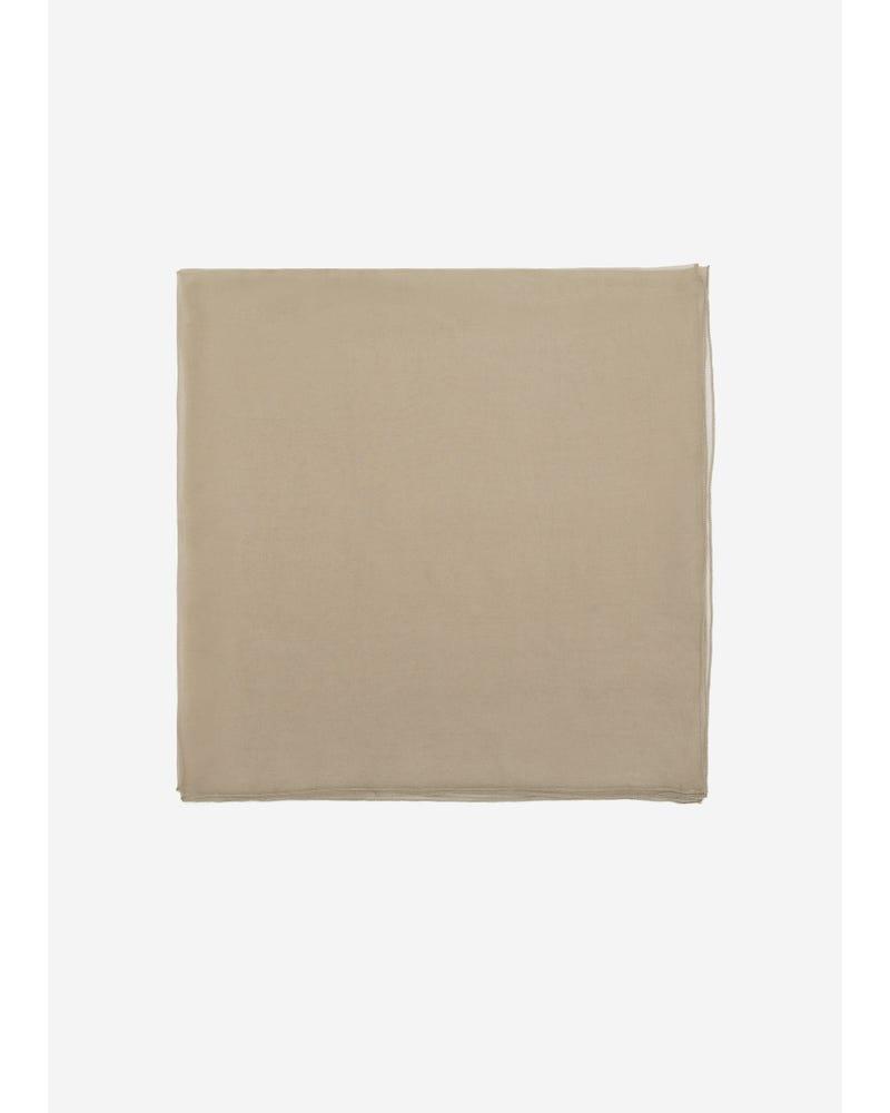 Elegant Solid Color Silk Chiffon Scarf