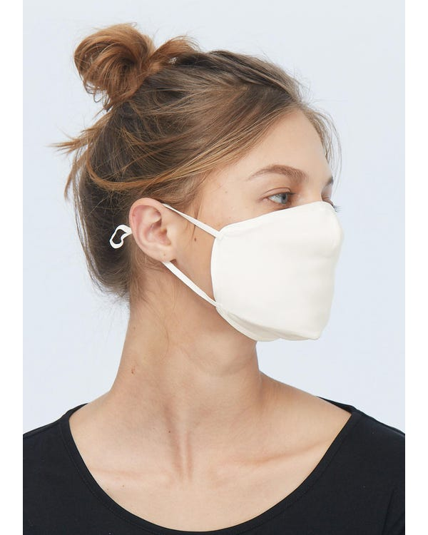Silk Insertable Mouth Mask And Filter Pads Ivory 10-Packs