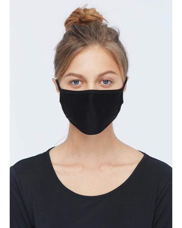 Breathable Face Mouth Silk Mask Black 10-Packs