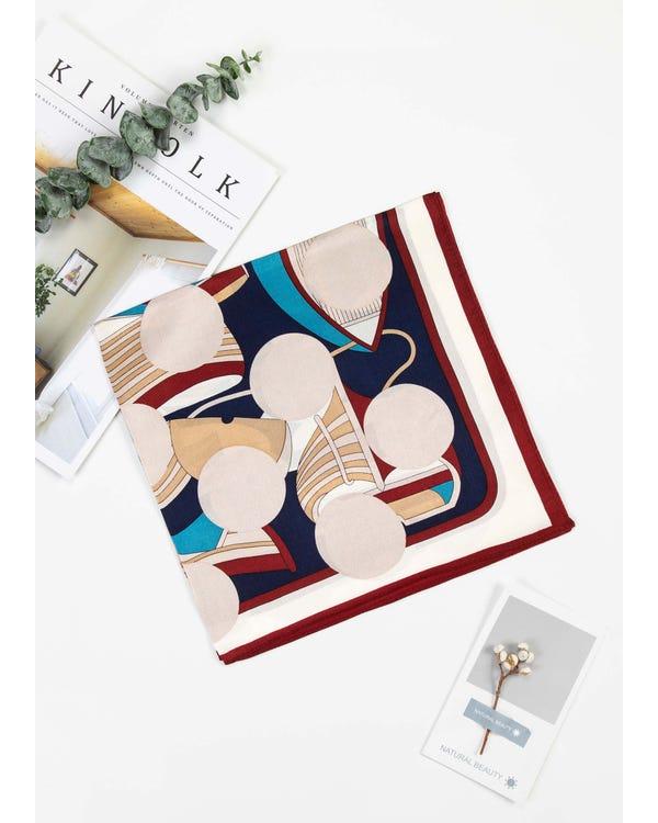 Retro Silk Square Scarves For Women