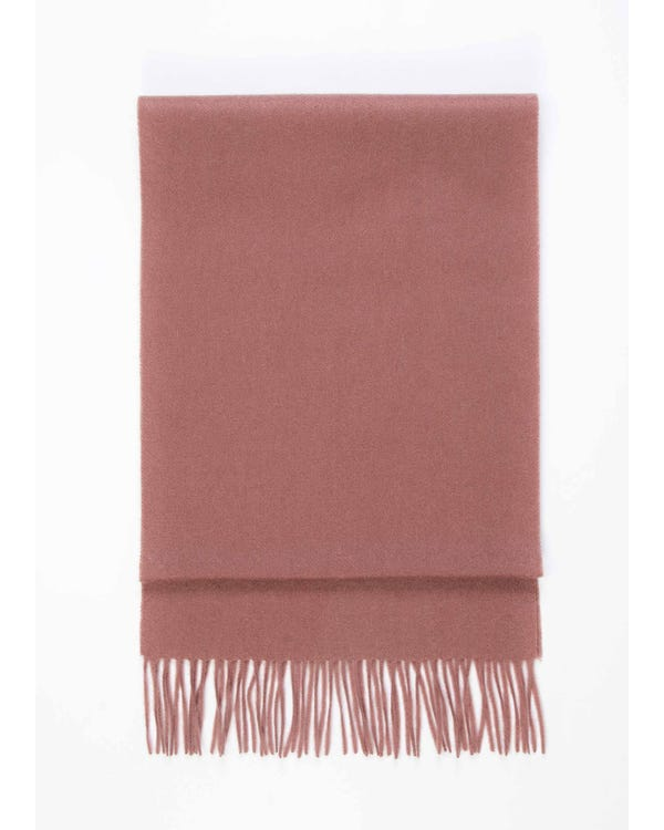 Chic Pure Color Cashmere Scarf With Fringed Decoration