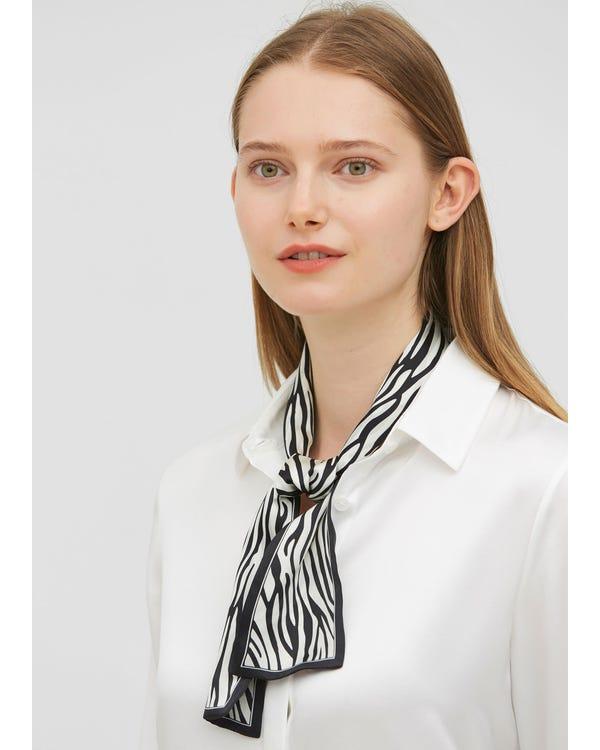 Zebra Stripe Rectangle Silk Scarf