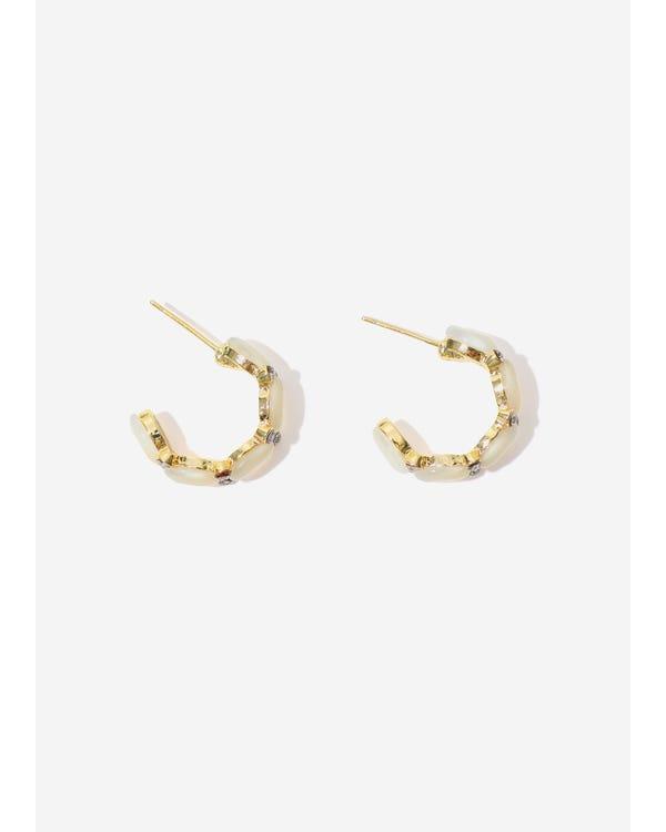 Gold Plated Modern Stud Earrings