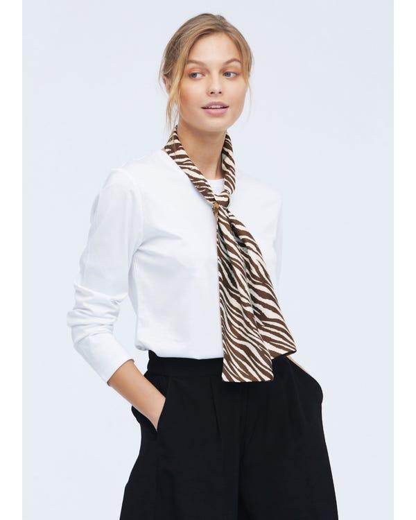 Double sided Pattern Silk Scarf