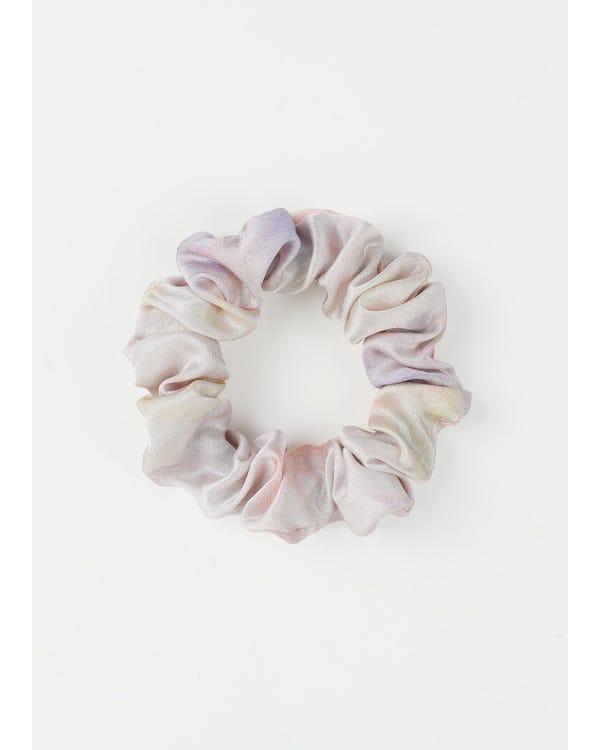 シルクシュシュ4点セット可愛いピンク系 水彩プリント 髪に優しい