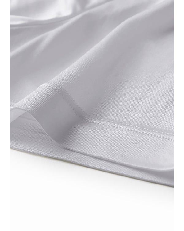 メンズ 定番サテン100%Tシャツ春夏 通気性抜群 極上の肌触り スポーツ ジョギング薄着 パジャマ ナイトウエア ルームウエア-hover