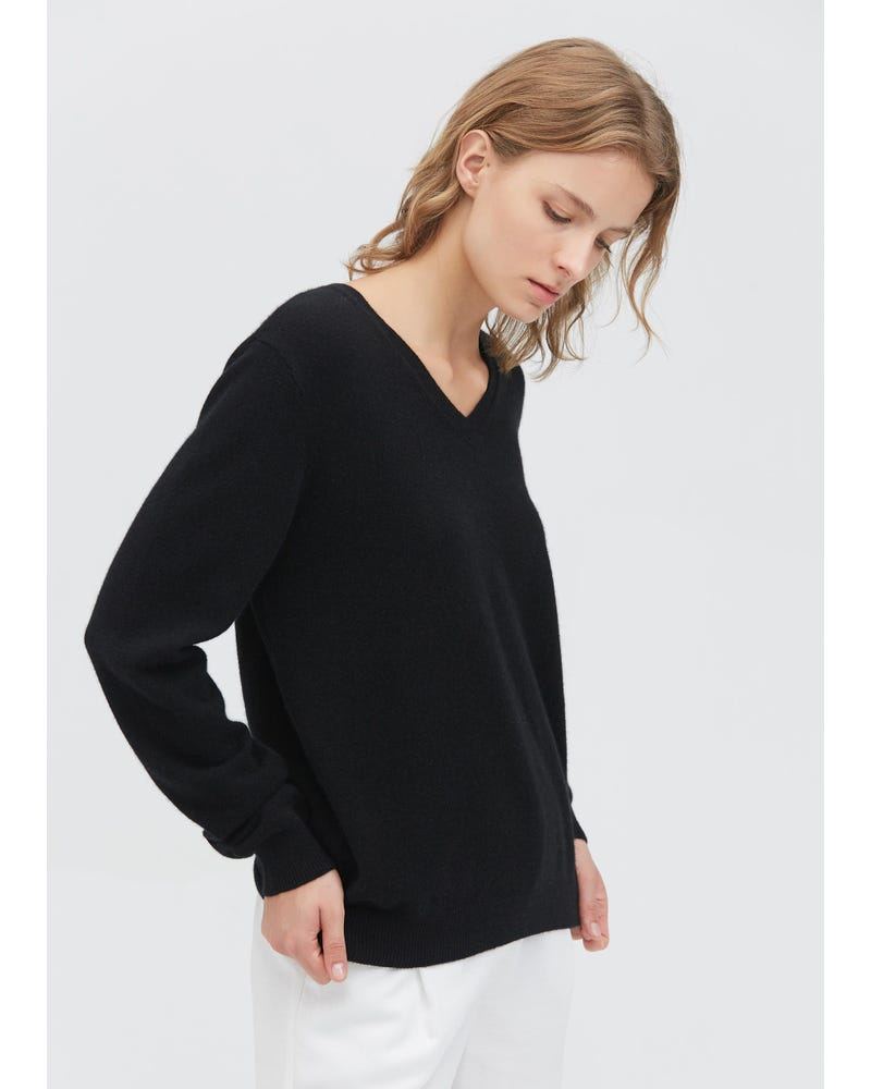 Women's Cashmere V Neck Sweater