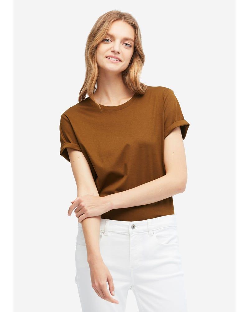 定番 シルク コットン Tシャツ