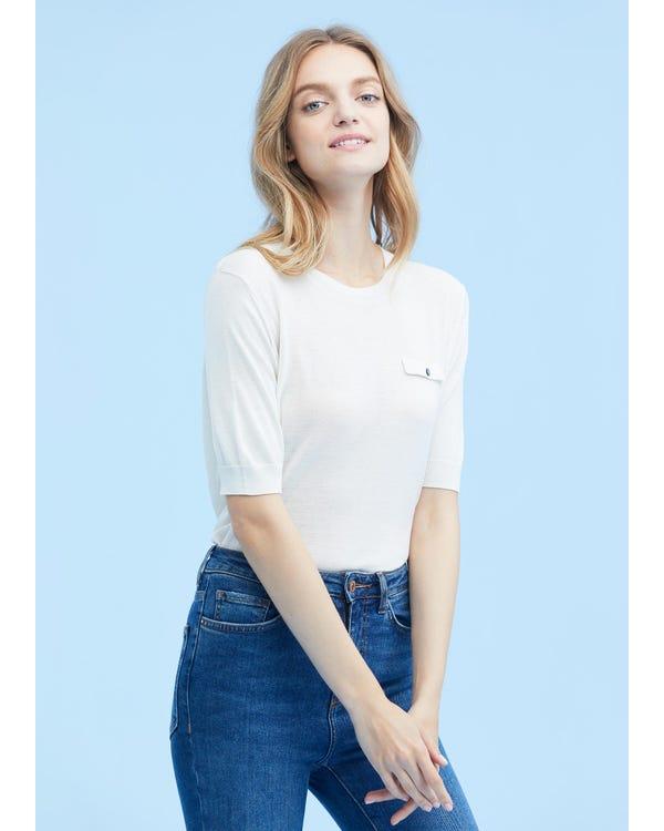 Breathable Short Sleeve Silk Knit Tee
