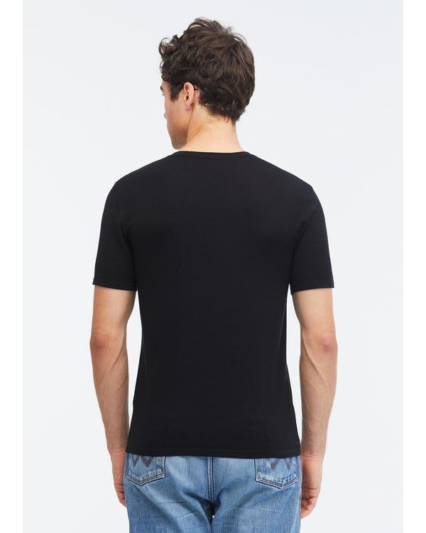 メンズ 定番 シルクニット Tシャツ-hover