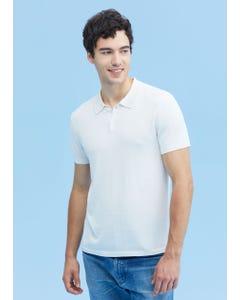メンズ 着心地よい シルク ポロシャツ