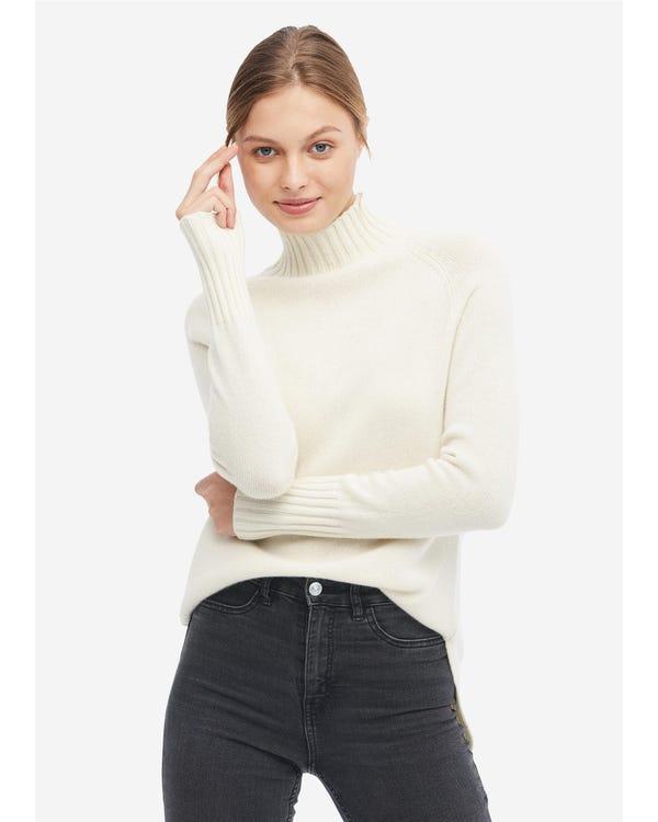 上品 タートルネック プルオーバー カシミア セーター