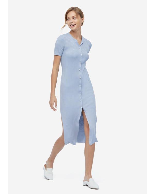 Elegant Long Silk Knitted Dress