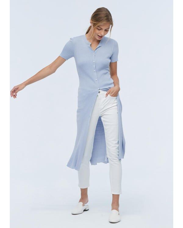 Elegant Long Silk Knitted Dress-hover