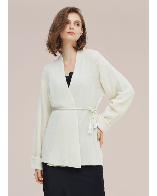 Comfortable Women's Wool Knitted Cardigan