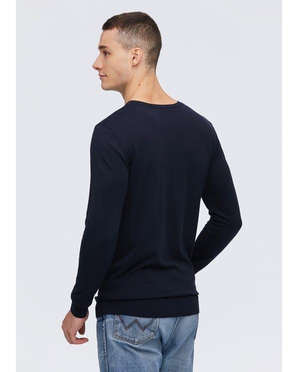 メンズ定番Vネック シルクTシャツ-hover