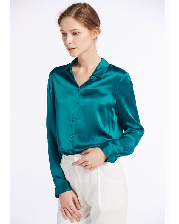 Basic Military Silk Shirts