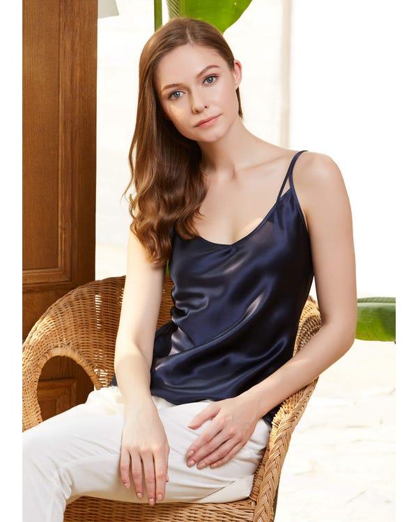 Double Strap Silk Camisole
