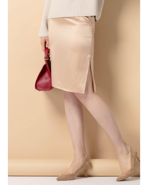 Hips Flattering Silk Skirt