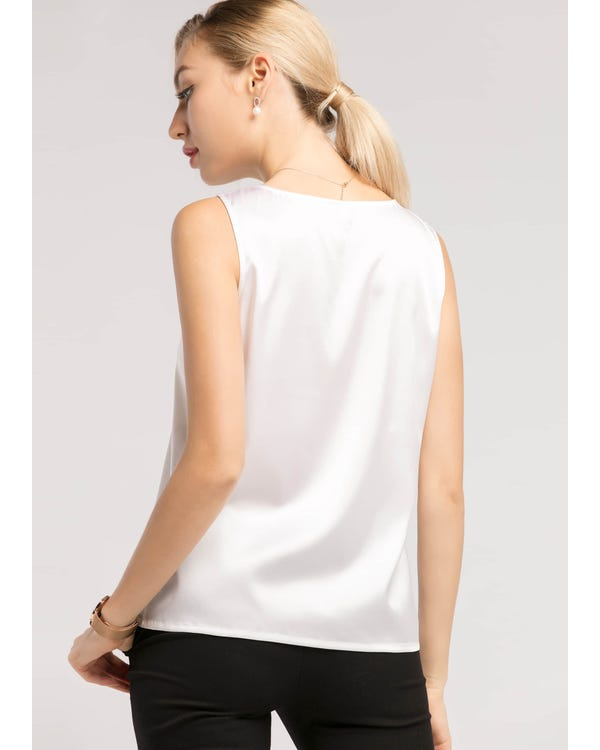 Basic Square Collar  Silk Tee-hover