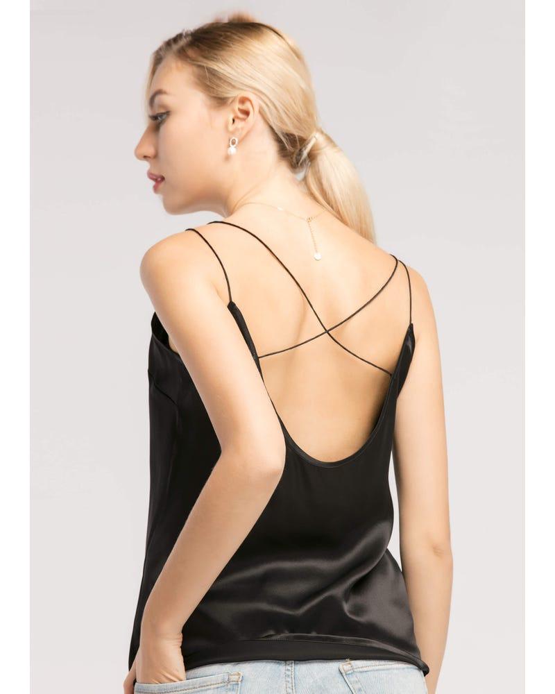 Sexy V Neck 19MM Silk Camisole