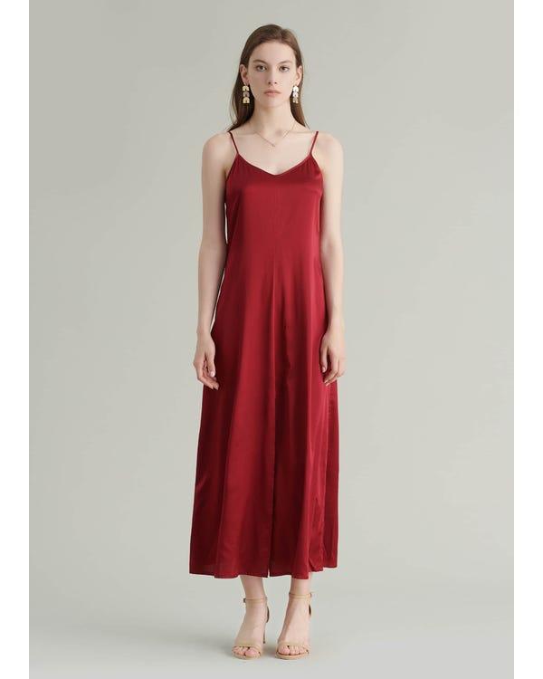 Ankle Length Cami Silk Dress