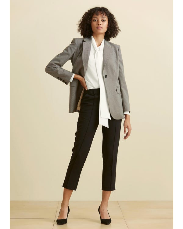 Classic Bow Tie Silk Blouse-hover